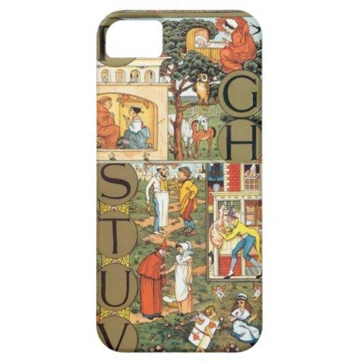 Iphone del alfabeto del vintage 5 casos iPhone 5 Case-Mate cobertura