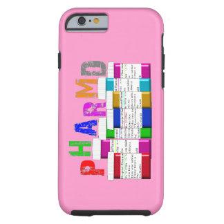 iPhone del ambiente de PharmD 6 envases rosados de Funda De iPhone 6 Tough
