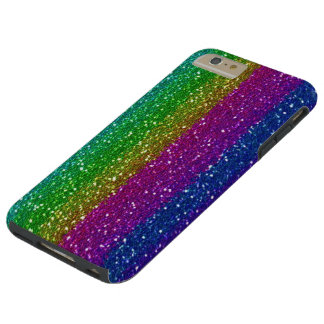 iPhone del arco iris del brillo 6 duros más Funda Para iPhone 6 Plus Tough