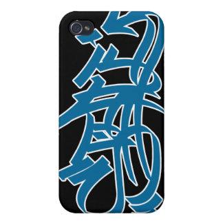 iphone del azul del graf v2 del estilo iPhone 4 carcasas