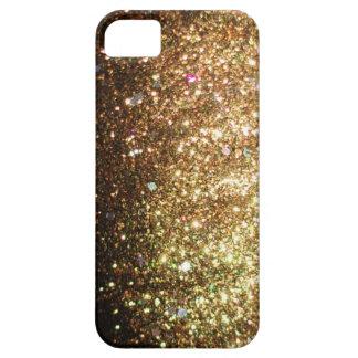 iPhone del brillo de la chispa del oro 5 navidad iPhone 5 Carcasa