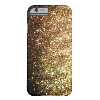 iPhone del brillo de la chispa del oro 6 navidad Funda De iPhone 6 Slim