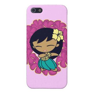iPhone del chica de Hula de las mieles de la hawai iPhone 5 Fundas