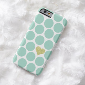 iPhone del corazón del brillo de los lunares de la Funda Barely There iPhone 6