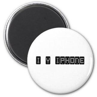 iphone del corazón i imán redondo 5 cm