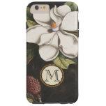 Iphone del estampado de flores de la magnolia del funda para iPhone 6 plus tough
