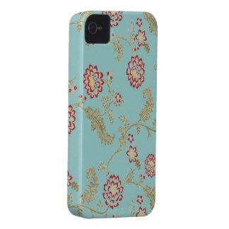 Iphone del estampado de flores del vintage 4 casos Case-Mate iPhone 4 coberturas