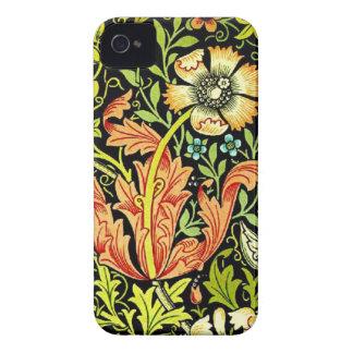 Iphone del estampado de flores del vintage 4 casos iPhone 4 Case-Mate carcasa