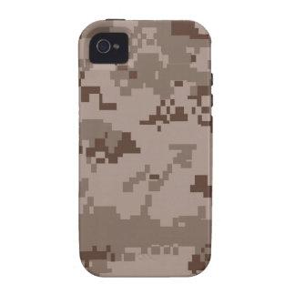 iPhone del modelo de Camo del desierto de Digitace Case-Mate iPhone 4 Carcasa