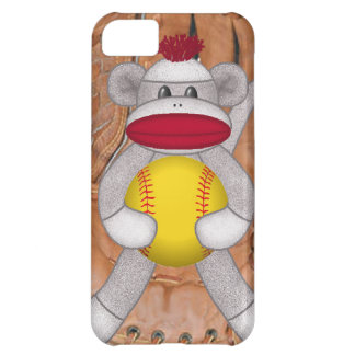 iPhone del mono del calcetín del softball o caja d