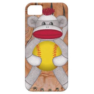 iPhone del mono del calcetín del softball o caja Funda Para iPhone SE/5/5s