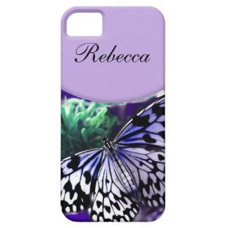 iPhone del monograma 5 casos de la mariposa Funda Para iPhone 5 Barely There