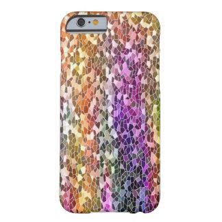 iPhone del mosaico del arco iris 6 casos Funda De iPhone 6 Barely There