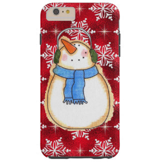 iPhone del muñeco de nieve del navidad seis casos Funda Resistente iPhone 6 Plus