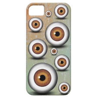 iPhone del ojo del iris del globo del ojo de Brown Funda Para iPhone SE/5/5s