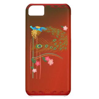 iPhone del pavo real y de las flores de cerezo del Funda Para iPhone 5C