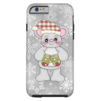 Iphone del ratón del navidad seis casos duros funda de iPhone 6 tough