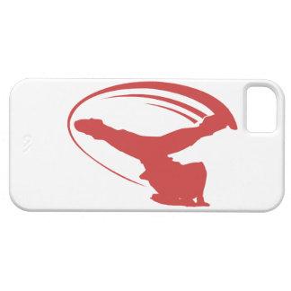Iphone del rojo del molino de viento de BBOY iPhone 5 Carcasas