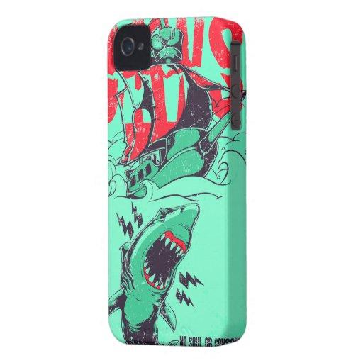 Iphone del tiburón carcasa para iPhone 4 de Case-Mate