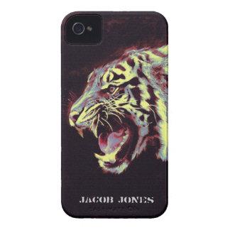 iphone del tigre del gruñido Case-Mate iPhone 4 cárcasas