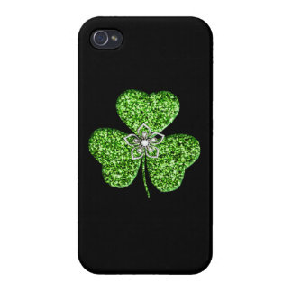 iPhone del trébol y de la flor del brillo 4 casos iPhone 4 Carcasa