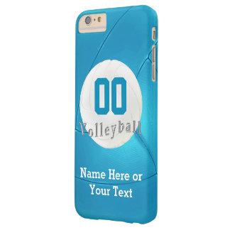 iPhone del voleibol 6 casos MÁS con el número, Funda De iPhone 6 Plus Barely There