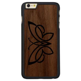 iphone delgado 6 de la caja de la nuez céltica de funda de nogal carved® para iPhone 6 plus