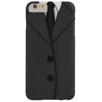 iPhone delgado de la tela a rayas del lazo gris Funda Para iPhone 6 Plus Barely There