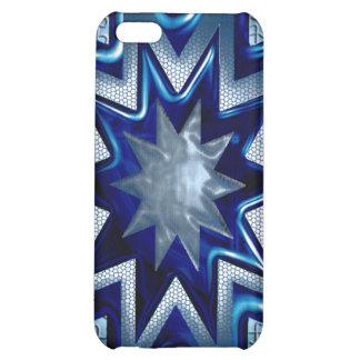 IPhone diseño de la estrella de 4 Sun azul