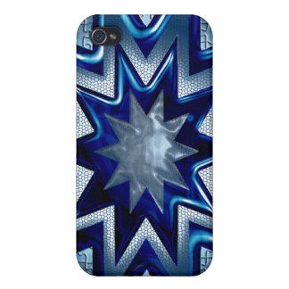 IPhone diseño de la estrella de 4 Sun azul iPhone 4 Cárcasa