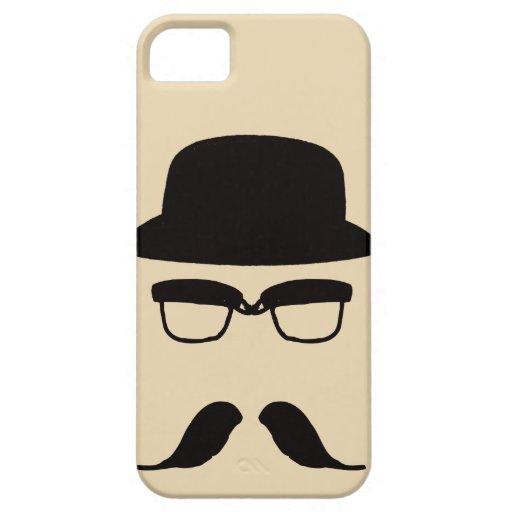 iPhone divertido del bigote y del gorra 5 casos iPhone 5 Case-Mate Cárcasas