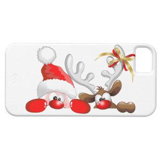 iPhone divertido del dibujo animado de Santa y del iPhone 5 Coberturas