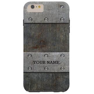 iPhone duro 6/6s de la mirada del metal del Grunge Funda De iPhone 6 Plus Tough