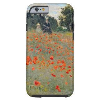iPhone duro 6 de las amapolas de Monet delgado Funda De iPhone 6 Tough