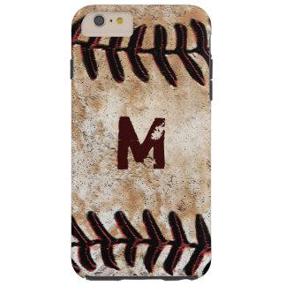iPhone duro 6S del béisbol del monograma más el Funda Resistente iPhone 6 Plus