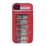iPhone duro: Foto roja clásica de la cabina de tel iPhone 4 Carcasa