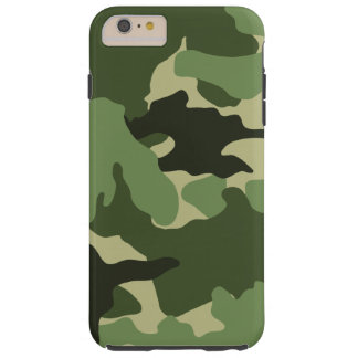 iPhone duro militar verde de Camo 6 casos más Funda De iPhone 6 Plus Tough