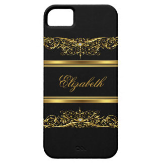 iPhone Elegant Classy Gold Floral iPhone SE/5/5s Case