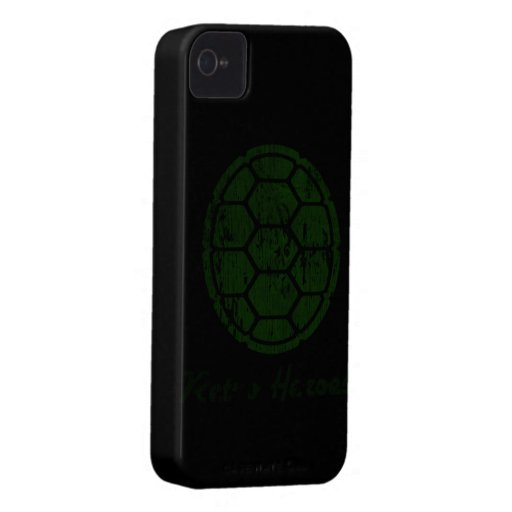 Iphone estupendo de la tortuga 4 casos Case-Mate iPhone 4 protector