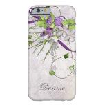 iPhone femenino 6 guisantes de olor de la púrpura