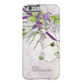 iPhone femenino 6 guisantes de olor de la púrpura Funda Para iPhone 6 Barely There