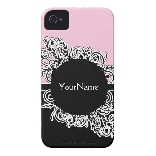 iPhone femenino rosado 4 casos Funda Para iPhone 4 De Case-Mate