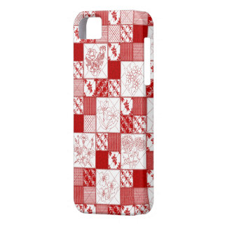 iPhone floral 5' del edredón de Redwork 5s Barely  iPhone 5 Case-Mate Cárcasa