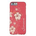 iPhone floral abstracto de marfil rosado oscuro 6 Funda De iPhone 6 Barely There