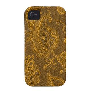 iPhone floral de la casamata del oro amarillo del iPhone 4/4S Fundas