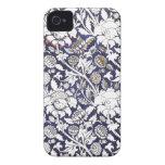 Iphone floral de la tela del art déco 4 casos Case-Mate iPhone 4 fundas