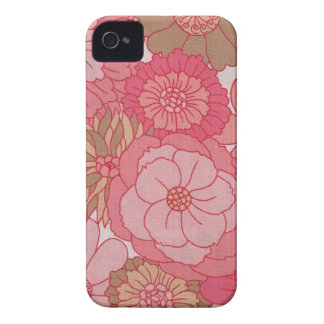 Iphone floral de la tela del vintage 4 casos carcasa para iPhone 4 de Case-Mate