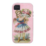 iPhone floral del ángel del Victorian - casamata d iPhone 4 Carcasas