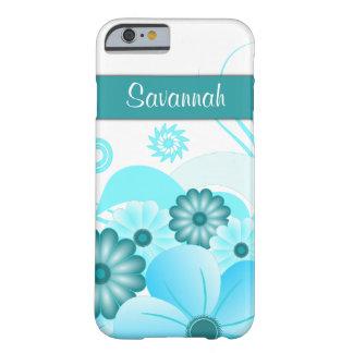 iPhone floral del hibisco azul del trullo de la Funda De iPhone 6 Barely There