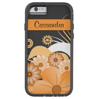 iPhone floral del hibisco de marfil del oro 6 Funda De iPhone 6 Tough Xtreme